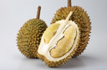 Whole and Half Durians