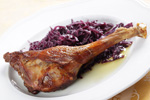 Roast Goose Leg With Red Cabbage