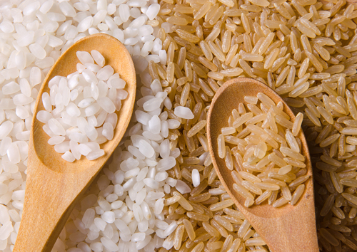 Short Grain White Rice and Long Grain Brown Rice